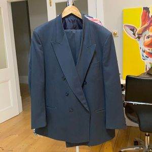 Mens double breasted suit.